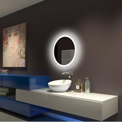 MIROIR DEL ROND BACKLIGHT 24X24 (60K)
